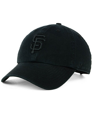 San Francisco Giants Black On Black Clean Up Cap by '47 Brand