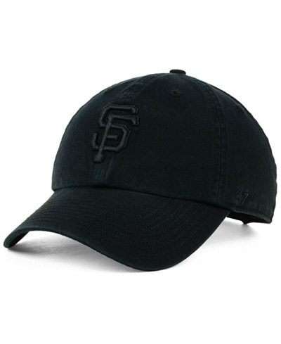'47 Brand San Francisco Giants Black on Black CLEAN UP Cap