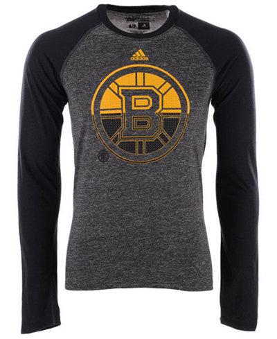 adidas Men's Boston Bruins Large Logo Fade Long Sleeve T-Shirt