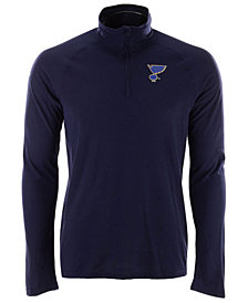 adidas Men's St. Louis Blues Secondary Logo Climatelite Quarter-Zip Pullover