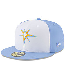 New Era Boys' Tampa Bay Rays Batting Practice Prolight 59FIFTY FITTED Cap