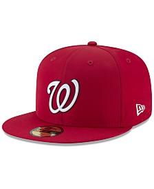 New Era Boys' Washington Nationals Batting Practice Prolight 59FIFTY FITTED Cap