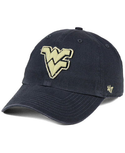 '47 Brand West Virginia Mountaineers Double Out CLEAN UP Cap