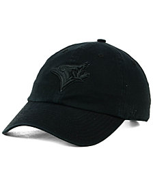 '47 Brand Toronto Blue Jays Black on Black CLEAN UP Cap