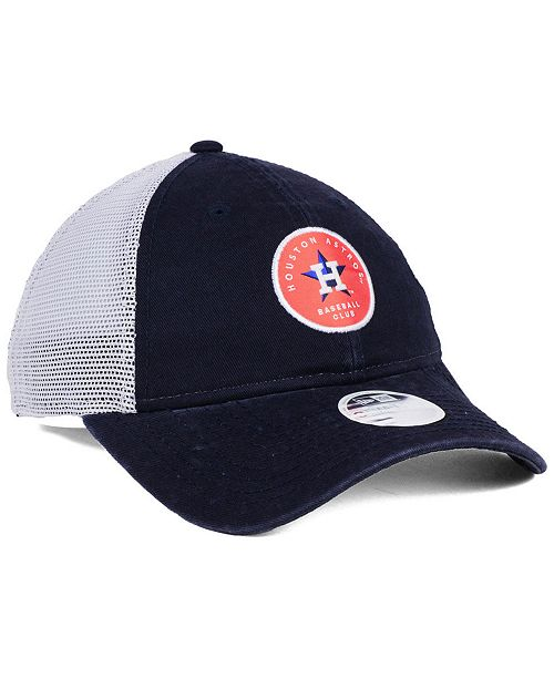 New Era Women s Houston Astros Washed Trucker 9TWENTY Cap - Sports ... cfb957a3a6