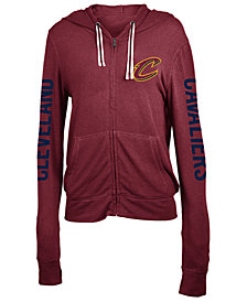 5th & Ocean Women's Cleveland Cavaliers Sweater Knit Full-Zip Hoodie