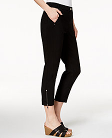 Style & Co Zip-Detail Ankle Skinny Pants, Created for Macy's