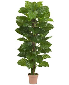 "Nearly Natural 63"" Large Leaf Philodendron Real Touch Plant"