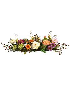 Mixed Peony Centerpiece Flower Arrangement