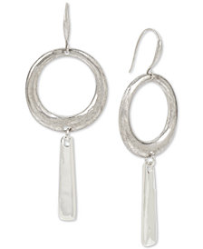 Robert Lee Morris Soho Silver-Tone Hoop & Stick Drop Earrings