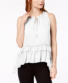Bar III Ruffled High-Low Top, Created for Macy's