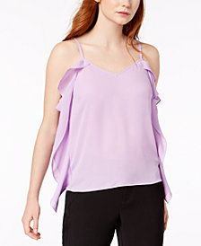 Bar III Ruffle-Side Top, Created for Macy's