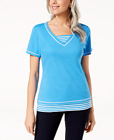 Karen Scott Layered-Look T-Shirt, Created for Macy's