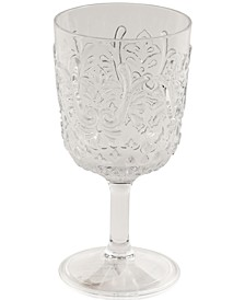 Elmira Embossed Acrylic Clear Goblet