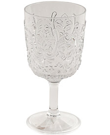 Gibson Elmira Embossed Acrylic Clear Goblet