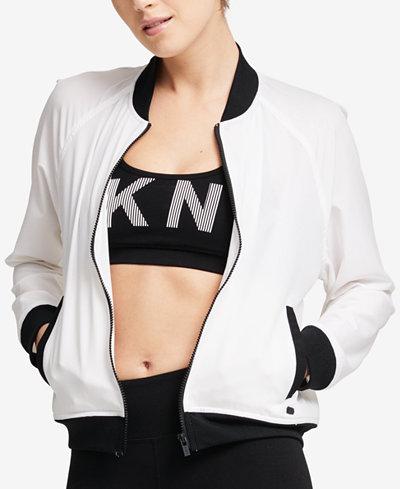 DKNY Sport Graphic Bomber Jacket
