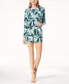 Rachel Zoe Palm-Leaf-Print Jacket, Sequin Top & Shorts