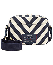 Tommy Hilfiger Bowers Chevron Canvas Crossbody