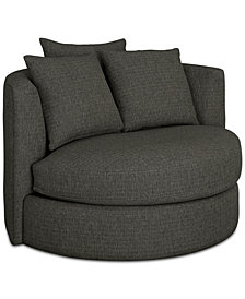 Mylie Fabric Swivel Chair,  Created For Macy's