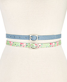 I.N.C. 2-for-1 Textured Skinny Belt Set, Created for Macy's