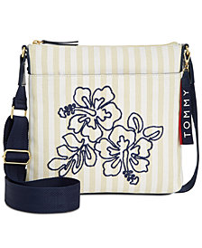 Tommy Hilfiger Classic Floral Canvas Crossbody, Created for Macy's