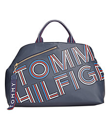 Tommy Hilfiger Adari Coated Twill Logo Tote, Created for Macy's