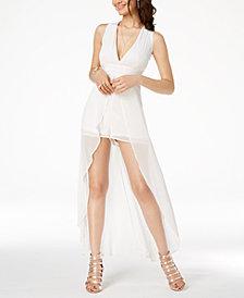 Material Girl Juniors' Crisscross Chiffon Skirt Romper, Created for Macy's