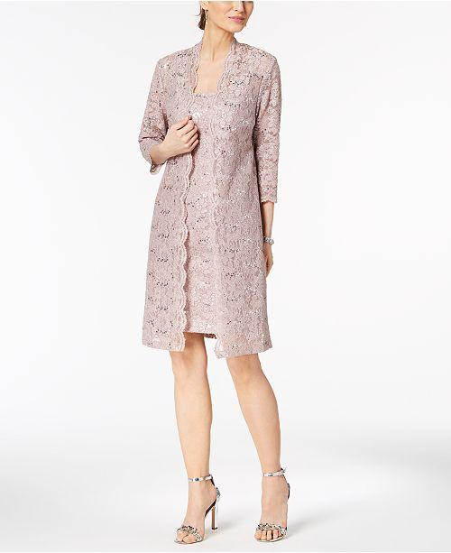 87e9290ab91 Alex Evenings Sequined Lace Dress   Duster Jacket   Reviews ...