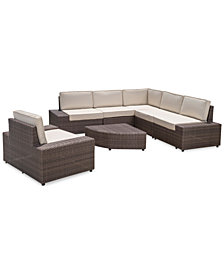 Jordan Outdoor 7-Pc. Sofa Set, Quick Ship