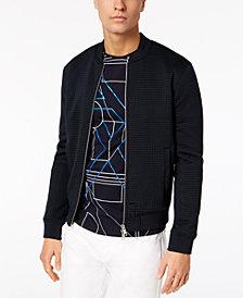 A|X Armani Exchange Men's Textured Jacquard Bomber Jacket