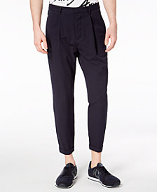 A|X Armani Exchange Men's Pleated Seersucker Pants