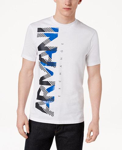 Armani Exchange Men's Logo-Print T-Shirt, Created For Macy's