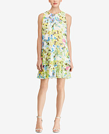 American Living Floral Printed Georgette Dress