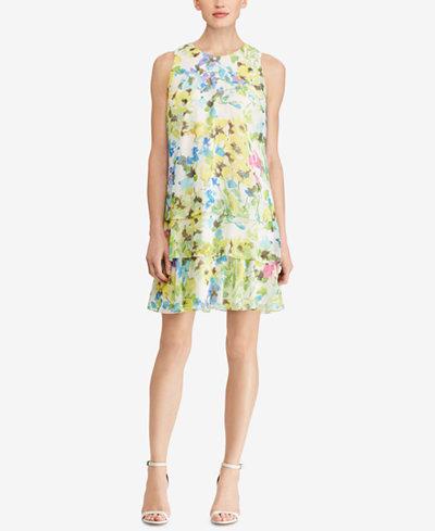 American Living Tiered Georgette Dress
