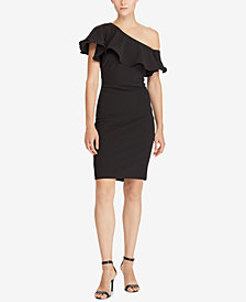 Lauren Ralph Lauren Ruffled One-Shoulder Dress
