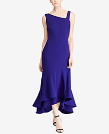 Lauren Ralph Lauren Asymmetrical Stretch Gown
