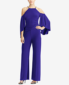 Lauren Ralph Lauren Cold-Shoulder Jumpsuit