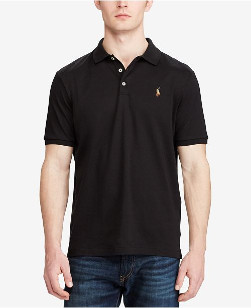 650fa43fa2d97 Polo Ralph Lauren Men s Custom Slim Fit Soft-Touch Polo - Polos ...