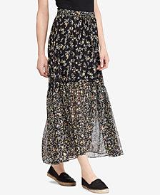 Lauren Ralph Lauren Floral-Print Georgette Maxiskirt