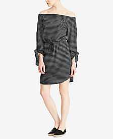 Lauren Ralph Lauren Jacquard Off-The-Shoulder Dress