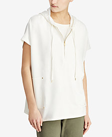 Lauren Ralph Lauren Hooded Short-Sleeve Top