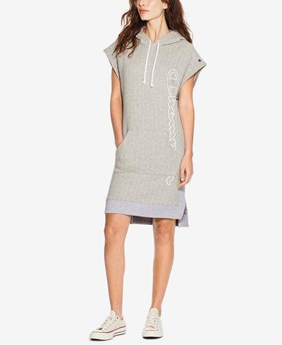 Champion Reverse Weave Colorblocked Hoodie Dress
