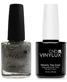 Creative Nail Design Vinylux Silver Chrome Nail Polish & Top Coat (Two Items), 0.5-oz., from PUREBEAUTY Salon & Spa