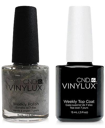 Creative Nail Design Vinylux Silver Chrome Nail Polish & Top Coat (Two Items), 0.5-oz., from PUREBEAUTY Salon & Spa