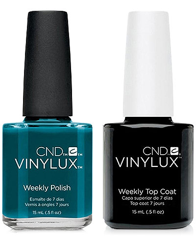 Creative Nail Design Vinylux Splash Of Teal Nail Polish & Top Coat (Two Items), 0.5-oz., from PUREBEAUTY Salon & Spa