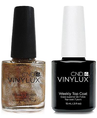 Creative Nail Design Vinylux Brass Button Nail Polish & Top Coat (Two Items), 0.5-oz., from PUREBEAUTY Salon & Spa