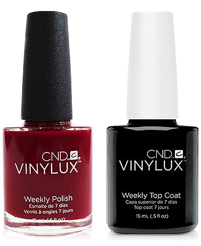 Creative Nail Design Vinylux Rouge Rite Nail Polish & Top Coat (Two Items), 0.5-oz., from PUREBEAUTY Salon & Spa