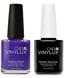 Creative Nail Design Vinylux Video Violet Nail Polish & Top Coat (Two Items), 0.5-oz., from PUREBEAUTY Salon & Spa