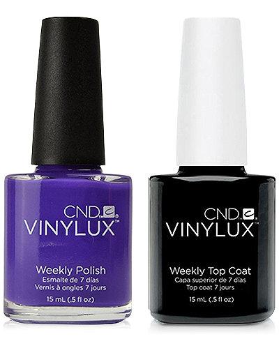 Creative Nail Design Vinylux Video Violet Nail Polish & Top Coat (Two Items), 0.5-oz., from PUREBEAUTY Salon & Spa
