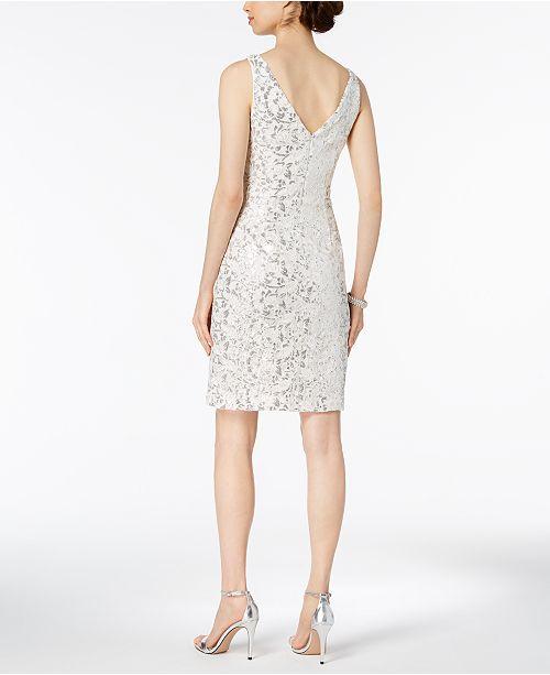 3e7547e3ca14 Vince Camuto Sequined Lace Surplice Dress & Reviews - Dresses ...